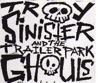 Troy Sinister Logo (white)- black t-shirt